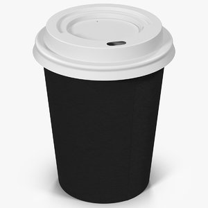 coffee cup 8oz takeout 3d max