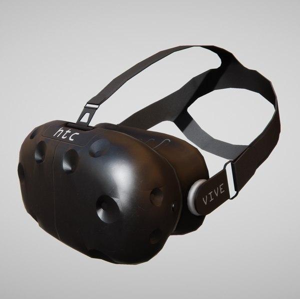 3d obj htc vive headset