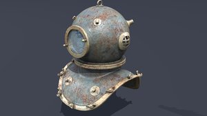 3d model sea diving helmet