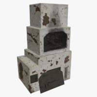 3d stone oven model