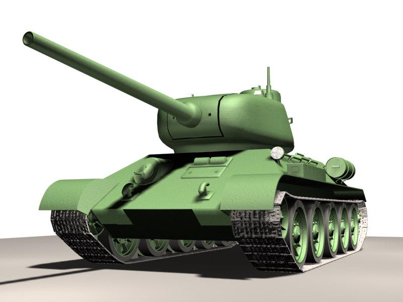 t-34 tank 3d max