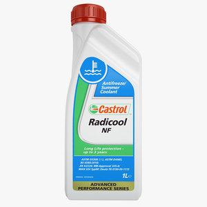 3d model of castrol radicool nf