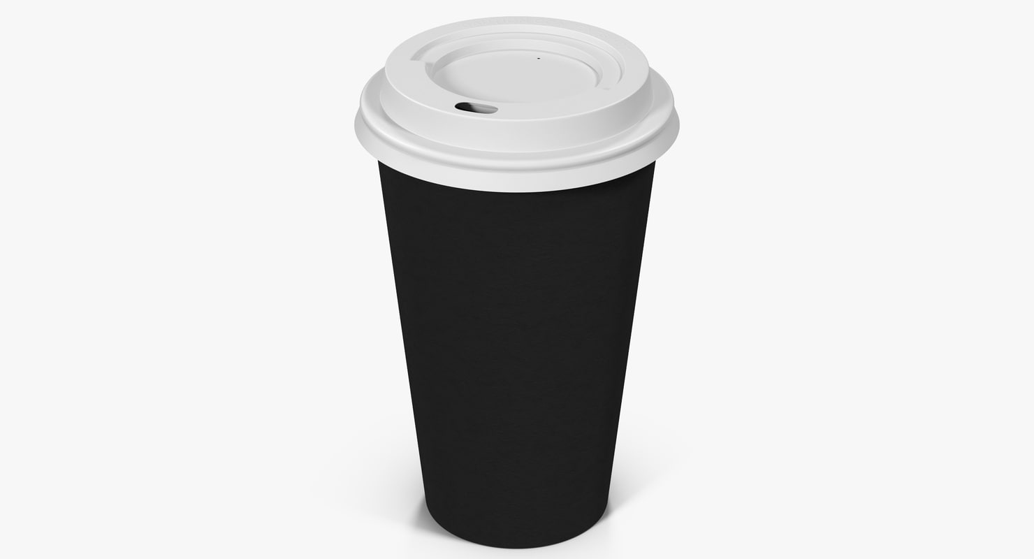 3d coffee cup 16oz takeout model