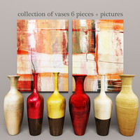 3d model vases pictures lacquered
