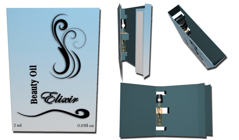 perfume sample box c4d