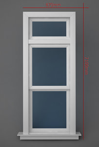 transom operating window 3d model