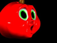 cute apple 3d model
