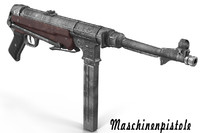 3d model german submachine gun