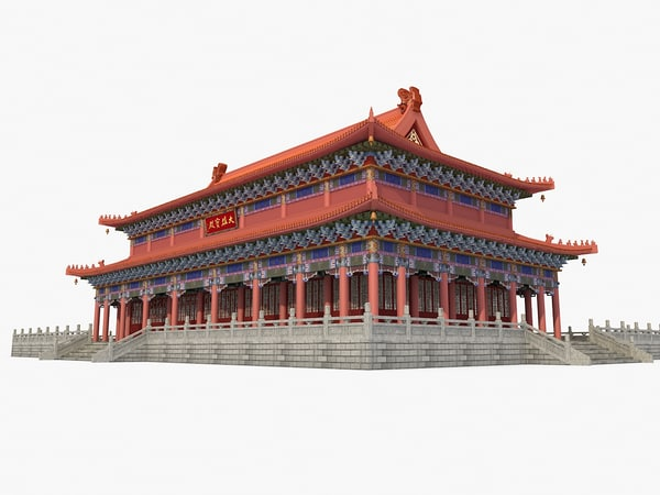 ancient china palace 3d model