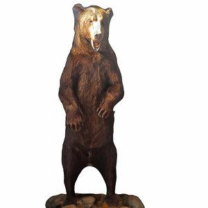 bear decoration c4d