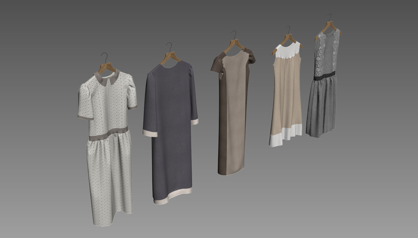 woman clothes 3d max