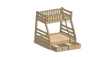 bunk bed 3d 3ds