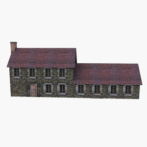 european country house 3d 3ds