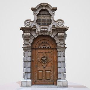 obj wood door