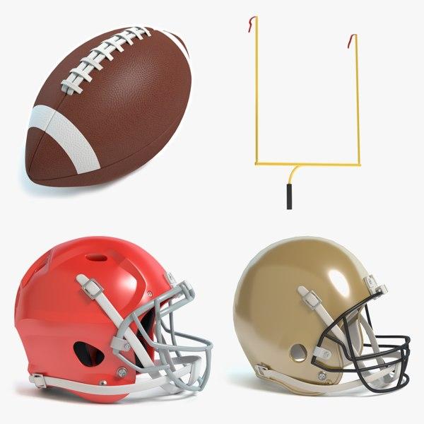 3d football equipment helmet model