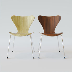 3d model series 7 3107 chair