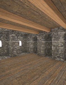 medieval tower interior 3d 3ds