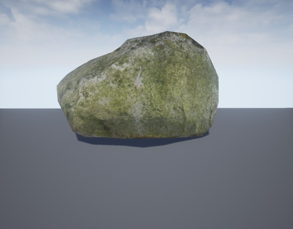 3d photorealistic rock model