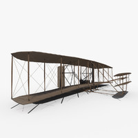 3d model flyer brothers wright