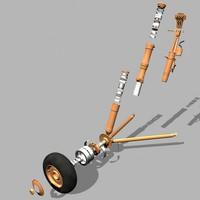 landing gear 3d max