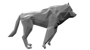 wolf rigged blend