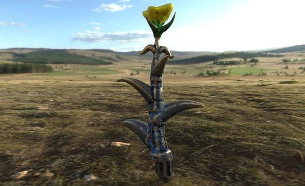 alien rose flower 3d x