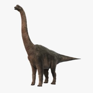 3d model brachiosaurus
