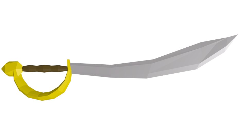 blend pirate sword cutlass