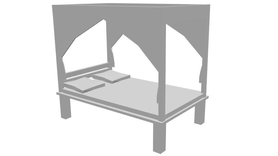 3d bed hangings