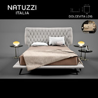 3d natuzzi dolcevita l01 bed model