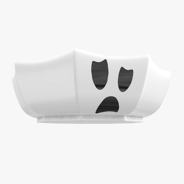 halloween bowl ghost 3d model