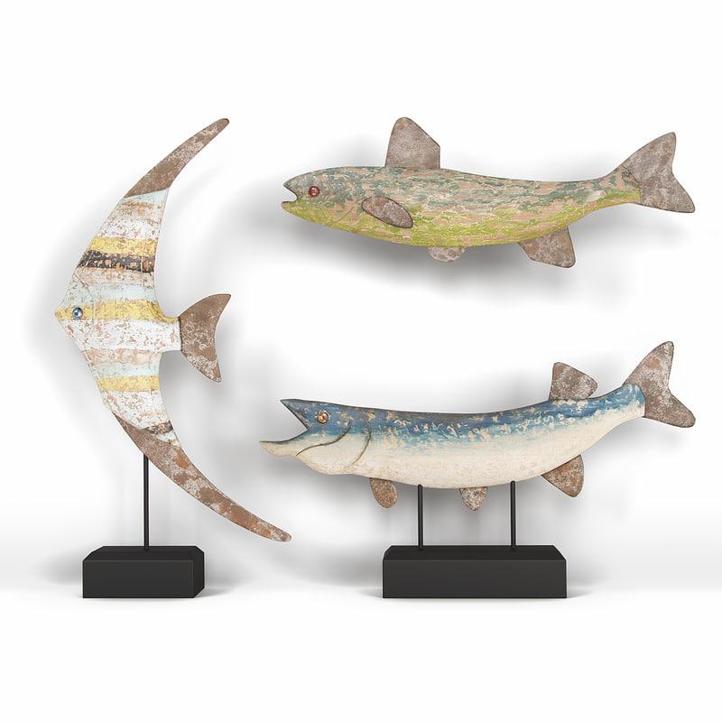 decorative fish set 3 3ds
