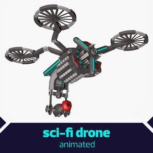 3d model sci-fi drone