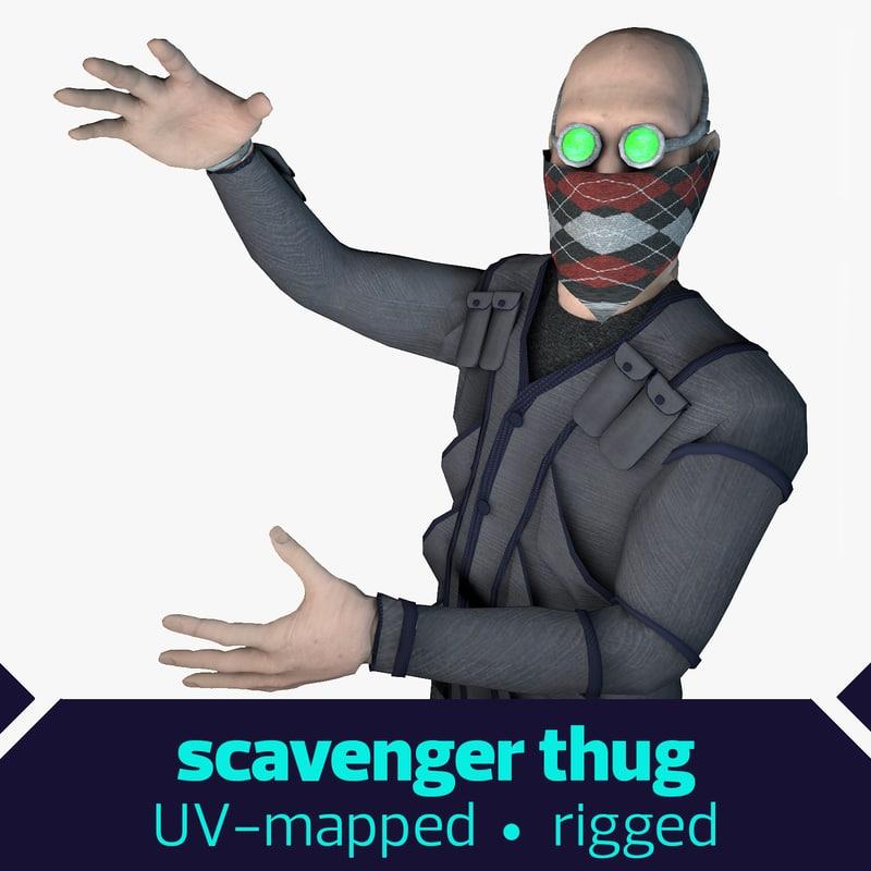 3d model scavenger thug