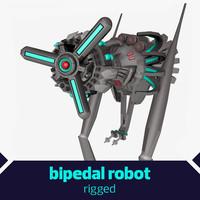 bipedal robot 3d 3ds