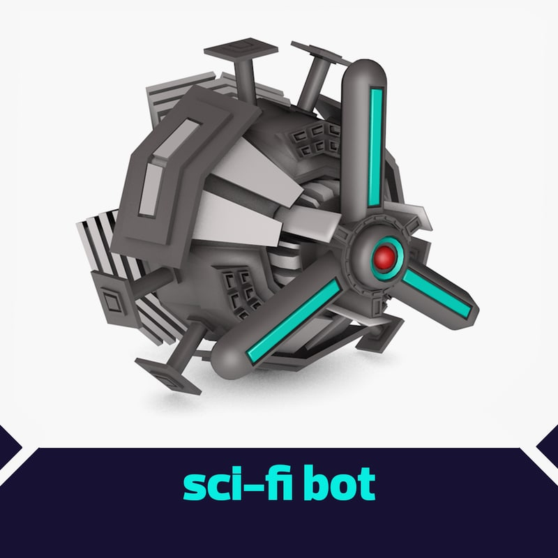 3d model eyed ai drone