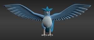 3d model of legendary ice bird