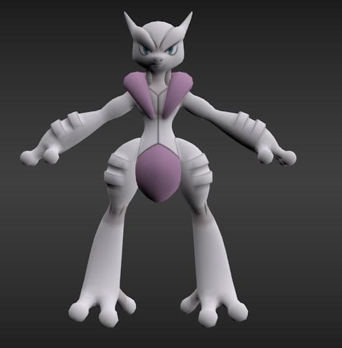 pack mewtwo 3d model
