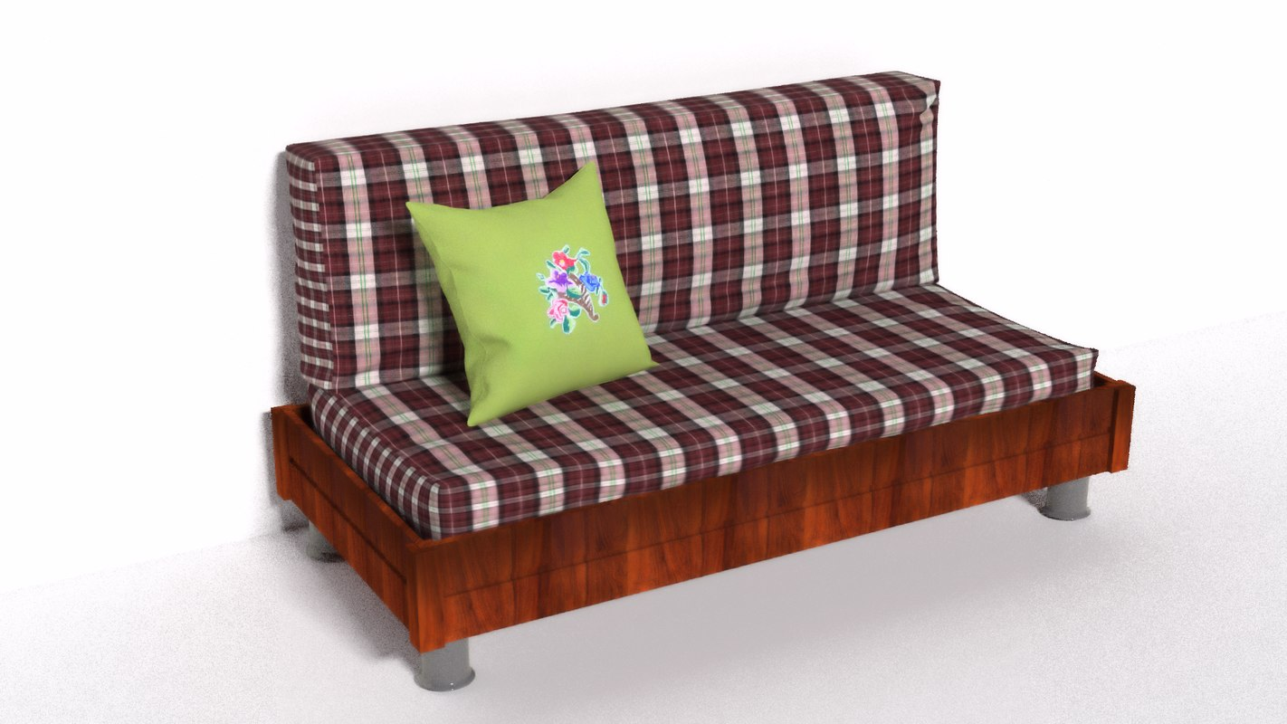 sofa summer cushion 3d model
