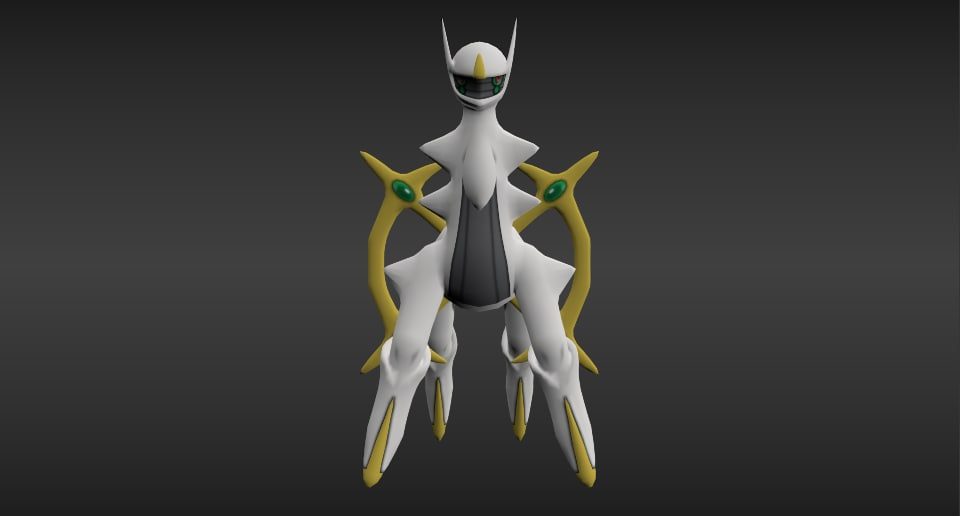 3d god pokemon model