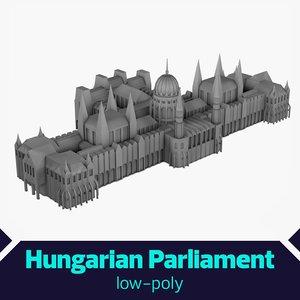 fbx low-poly hungarian parliament