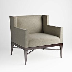 3d model rosenau demi wing chair