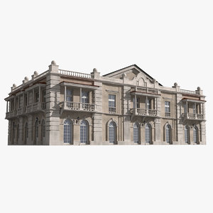 mansion residential building 3d model