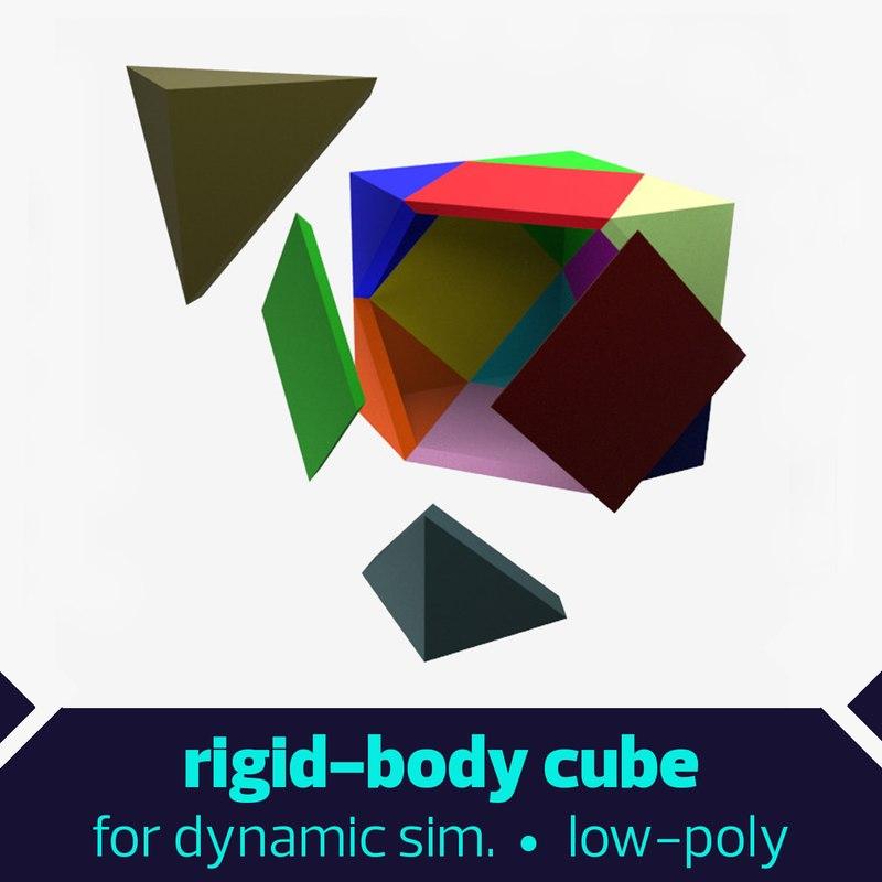 cube rigid body dxf free