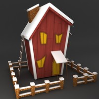 Modular low poly Snow house 3