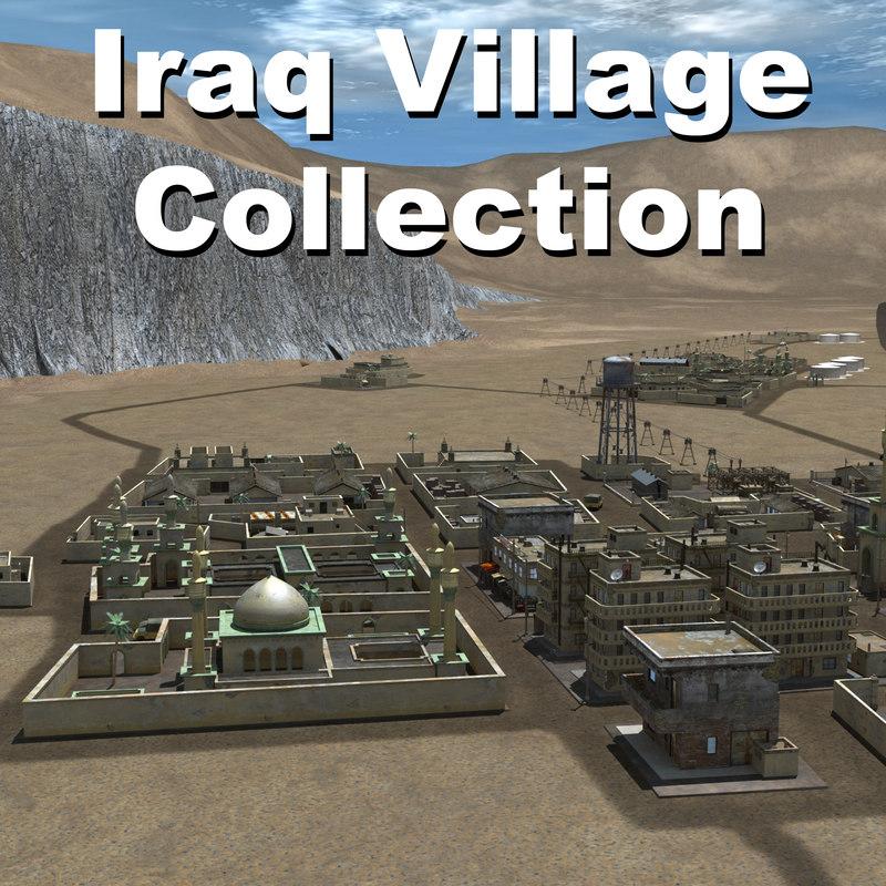middle arab town city 3d obj