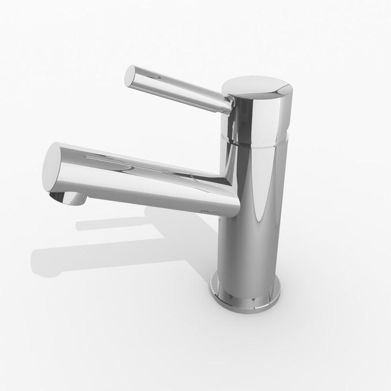drift basin mixer 3d model