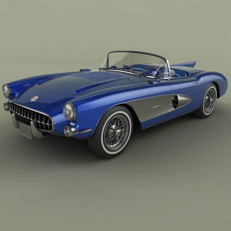 3d 1956 chevrolet corvette sr2 model