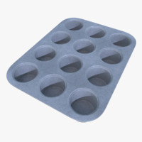 3d model of subdivision muffin pan