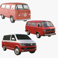 3d transporter minibus model